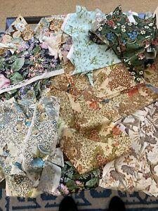 Sanderson Vintage Patchwork Fabric Pieces Bundle. Ideal for Quilt/Crafts.