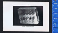 Iceland Spar, Double Refraction, Optics -1934 Smithsonian Print
