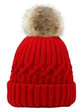 Señoras POM POM Sombrero Sombrero de Invierno para Mujer Beanie Cálidos fluffy pom pom sombrero de Moda