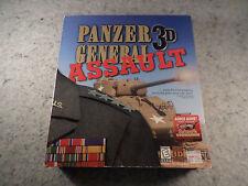 Panzer General 3D Assault Excellent Big Box Complete w/ Luftwaffe Commander Disk