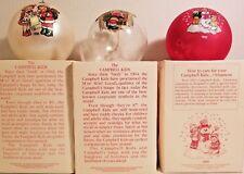🔥Nib Campbell'S Soup Kids Christmas Ornaments Holiday Lot Of 3 -'90, '91, '92