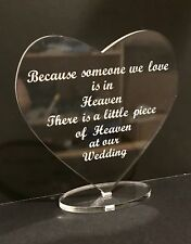 Wedding Memorial Sign Plaque Heart With Base