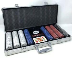WSOP Professional 400pc 11.5 gram Poker Chip Set W/Aluminum Case Dice Sealed