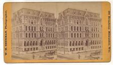 Insurance Office, Piano Movers MILWAUKEE WI Wisconsin WH Sherman Stereoview Card