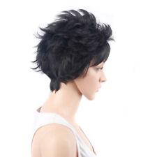 Fashion Short Black Cut Cool Women's Lady's Hair Wig Full Wigs + Wig Cap