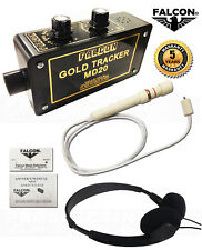 FALCON MD20 GOLD TRACKER METAL DETECTOR with HEADPHONES Package