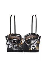 LE Victoria's Secret VS X Balmain Fashion Show Graffiti Zipper Long Line Bra 34C