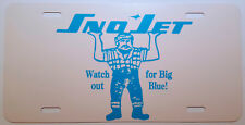 "Vintage Sno Jet ""Big Blue"" Snowmobile Logo Novelty License Plate"