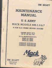 Prime Mover Mack 6 ton 6x6 Truck Models NM5,6,7 TM10-1477 book WW2 US Army