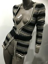 WITCHERY Cable knit strIped cardigan size S