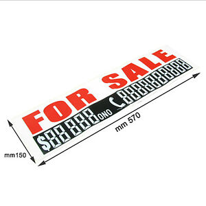 1 x For-sale-car-sign-Phone-n-WITH-MARKER-PEN-Cars-Boat-Label-Sticker