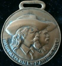 1909 Buffalo Bill Pawnee Western Medal Coin FOB Token