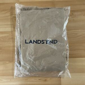 Lands End Cashmere Touch Herringbone Throw Fringe Trim - Golden Camel - SEALED