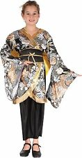 NEW - GEISHA CHILDS FANCY DRESS KIMONO COSTUME ORIENTAL MEDIUM 122cm  -  134cm