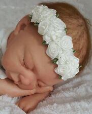 (Nr.0st41) Bezauberndes Stirnband Baby Haarband in weiss Gr. S,M NEU!!!