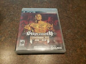 Supremacy MMA (Sony PlayStation 3, 2011) COMPLETE WITH MANUAL
