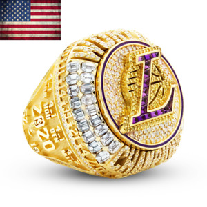 2020 OFFICIAL Los Angeles Lakers Championship Ring NBA Champions Size 8-13 New