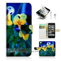 ( For iPhone 5 / 5S / SE ) Wallet Case Cover! Beautiful Flower P0223