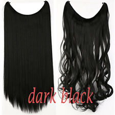 US Wire Hair Piece Hair Extensions Straight Curly Piece Real As Human 20INCH n33