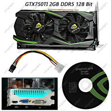 128 Bit PCI-Express Video Graphics Card for NVIDIA GeForce GTX750TI 2GB DDR5 NEW