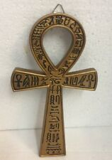 Egyptian Ankh Loop Plaque Crux Ansata Symbol of Life Figurine Statue 7 inches