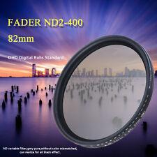 82mm Neutral Density Fader Filter ND Variable ND2-400 Adjuatable For DSLR