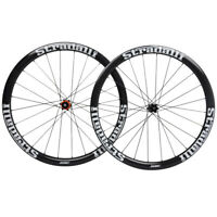 40mm Disc brake Carbon Wheelset Clincher Road Bike Wheels 700C 6-bolt Glossy Rim