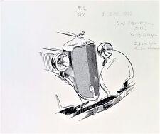 DODGE 1933 ORIGINAL SKETCH / DRAWING BY GUNNAR A SJOGREN GAS