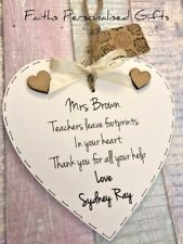 PERSONALISED TEACHER/MENTOR THANK YOU GIFT*SHABBY CHIC PLAQUE*