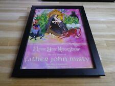 FATHER JOHN MISTY - Honeybear - PUB ORIGINALE ENCADREE !! ORIG ADVERT FRAMED