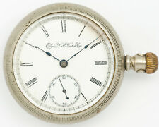 Antique Elgin 18s 7j Pocket Watch in Fahy's No.1 Case for Restoration Estate!
