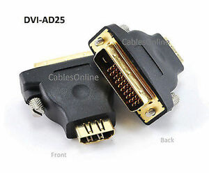 M1-D (P&D) Male to HDMI Female Video Projector Adapter, CablesOnline DVI-AD25