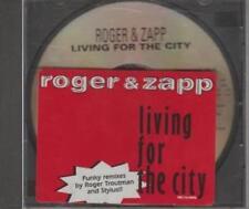 Roger & Zapp: Living For The City PROMO w/ Artwork MUSIC AUDIO CD FunkyA Remixes