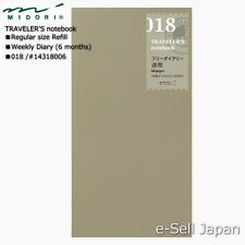 MIDORI TRAVELER'S notebook Regular size Refill / Weekly diary 018 #14318006