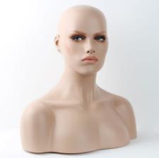 Realistic Mannequin Head Fiberglass Hat Glasses Mold Stand Torson Wig African 20