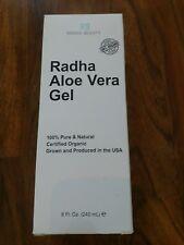 Radha Beauty 8oz Aloe Vera Gel Hydrate Skin Healthy Shine 100% Pure Organic Good