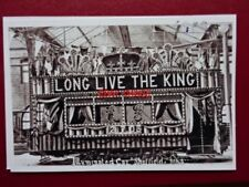 PHOTO  SHEFFIELD TRAM - (5) TRAM DECORATED ROYAL VISIT OF KING EDWARD VII & QUEE