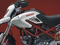 ADESIVI 3D PROTEZIONI LATERALI compatibili per MOTO DUCATI HYPERMOTARD 2007-2012