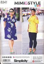 SIMPLICITY SEWING PATTERN 8341 MISSES 16-24 DRESS, TOP & LEGGINGS IN PLUS SIZES