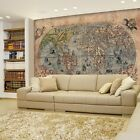 Antique Map of the World - Sea Monster Illustrations - Wall Mural- 66x96 inches