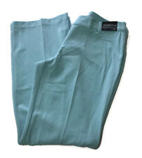 New York & Company Womans Size 12 Pants Tailored Flare Leg Stretch Blue  X7