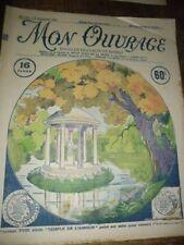 MON OUVRAGE.1930. BRODERIE. N 181. DU 1 SEPT. COUV.LE TEMPLE DE L AMOUR..KIOSQUE