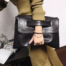 Fashion Women's Suede Leather Clutch Bag Ladies Evening Prom Handbag Tote Bags