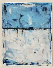 No.877 Original Abstract Modern Minimal Texture Painting On Canvas By K.A.Davis