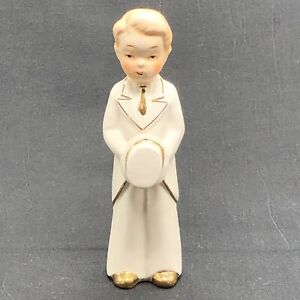 VTG 40s? Groom Figurine Top Hat Tails Gold Trimming Gay Wedding Cake Topper