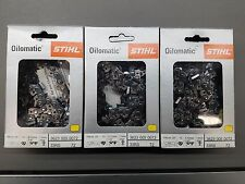 "3pk  20"" STIHL Chainsaw Chain 33 RS 72 3623 005 0072 33RS 72 3/8"" pt 72 Link NEW"