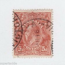 1915 Australia Sc #36 Θ used VF 5 Pence, orange brown postage stamp
