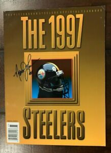 1997 Pittsburgh Steelers yearbook autographed Bettis Johnson Roye Oldham Miller