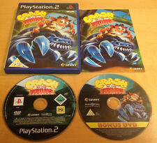 CRASH OF THE TITANS 2-DISC for SONY PS2 PLAYSTATION 2 COMPLETE WITH DVD