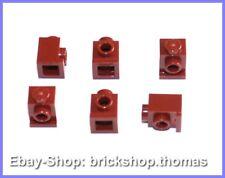 Lego 6 x Snot convertidor piedra 1x1 rojo oscuro 4070 headlight Dark Red-nuevo/new